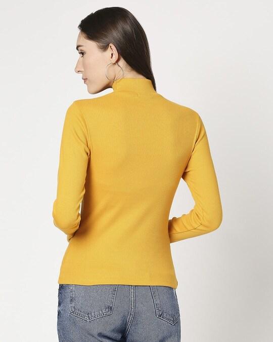 Shop Women's Turtle Neck Full Sleeves T-Shirt-Full
