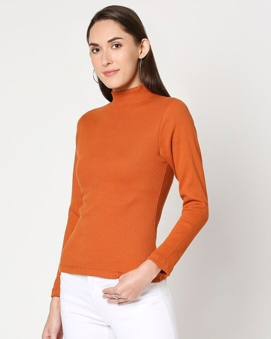 Shop Women's Turtle Neck Full Sleeves T-Shirt-Design