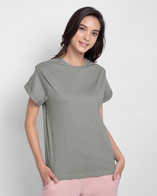 Shop Plain Women's Boyfriend T-Shirt - Combo-Back