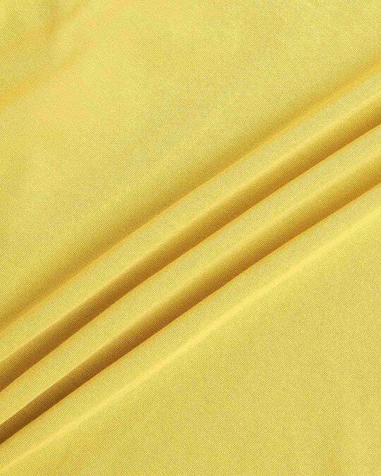 Shop Ceylon Yellow V Neck Stripe Sleeves T-Shirt