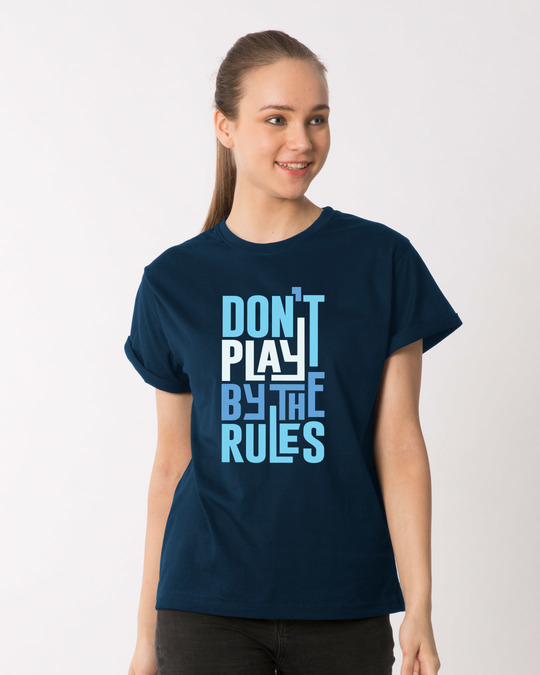 Shop Play By The Rules Boyfriend T-Shirt-Front