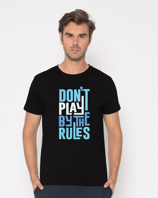 Shop Play By The Rules Half Sleeve T-Shirt-Back