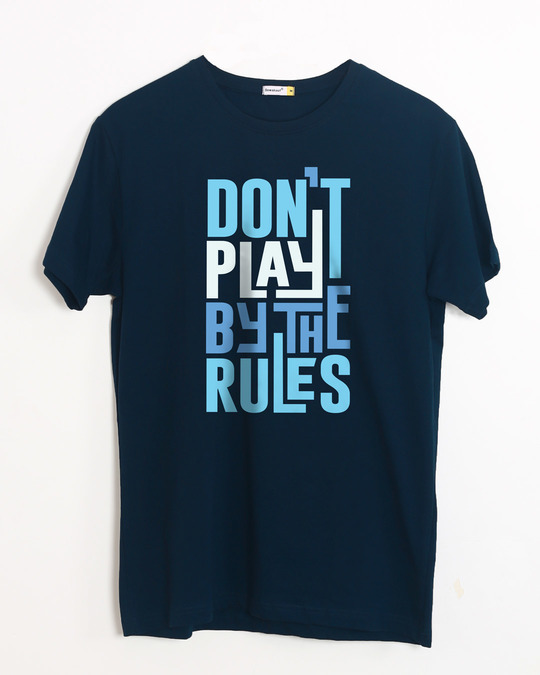 Shop Play By The Rules Half Sleeve T-Shirt-Front