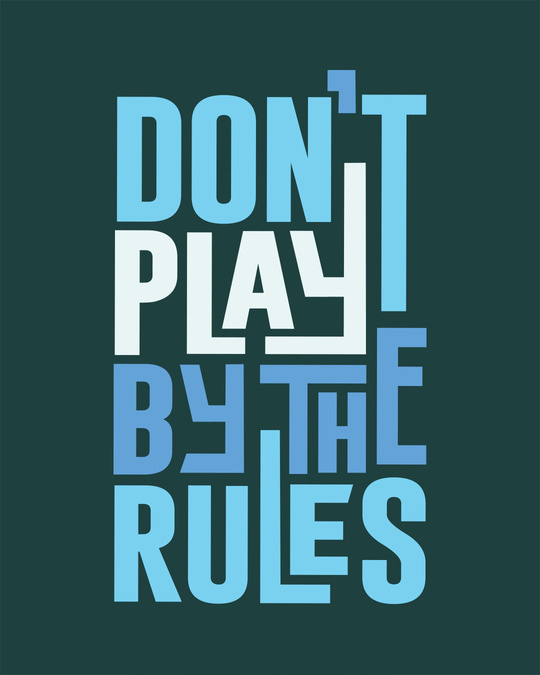 Shop Play By The Rules Round Neck 3/4th Sleeve T-Shirt