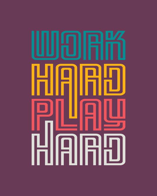 Shop Play Hard! Half Sleeve T-Shirt-Full