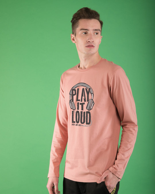 Shop Play It Loud Full Sleeve T-Shirt-Back