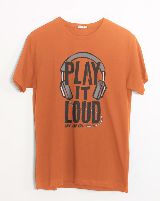 Shop Play It Loud Half Sleeve T-Shirt-Front
