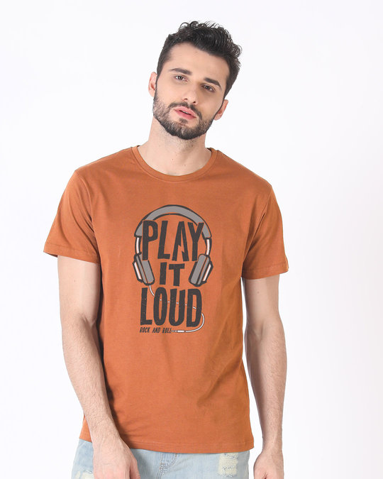 Shop Play It Loud Half Sleeve T-Shirt-Back