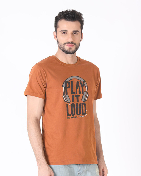 Shop Play It Loud Half Sleeve T-Shirt-Design