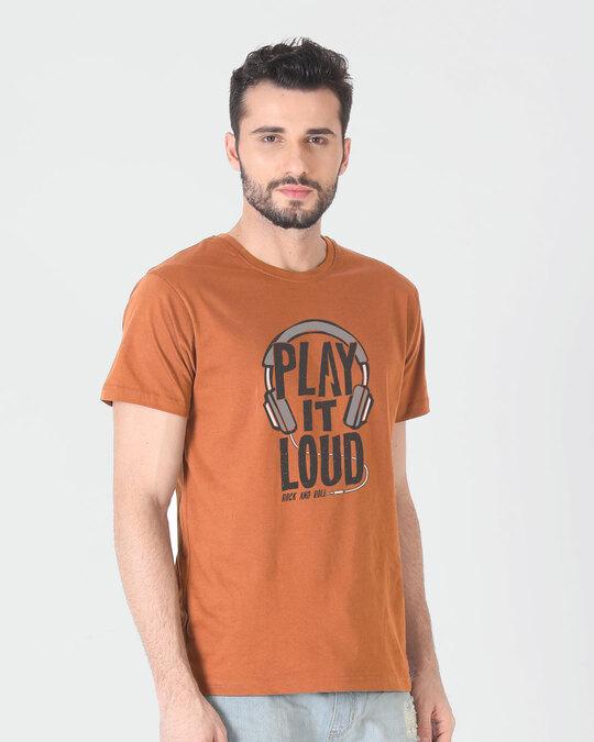 Shop Play It Loud Half Sleeve T-Shirt-Back