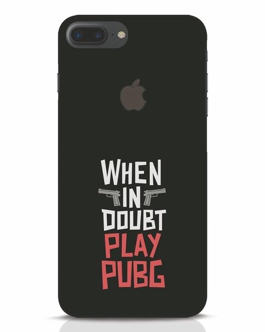 Shop Play Pubg iPhone 7 Plus Logo Cut Mobile Cover-Front