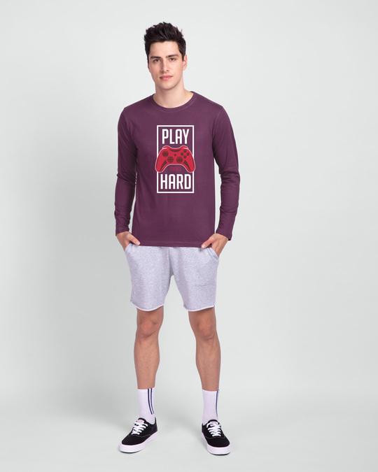 Shop Play Very Hard Full Sleeve T-Shirt-Design