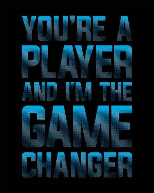 Shop Player Game Changer Half Sleeve T-Shirt