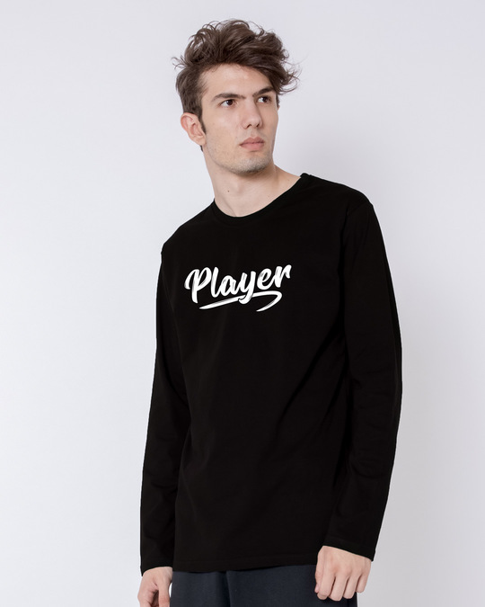 Shop Player Typography Full Sleeve T-Shirt-Back