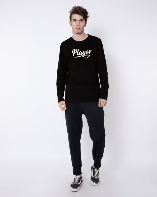 Shop Player Typography Full Sleeve T-Shirt