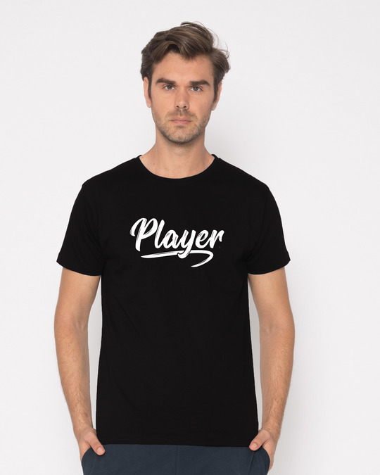 Shop Player Typography Half Sleeve T-Shirt-Back