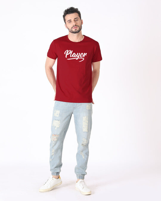 Shop Player Typography Half Sleeve T-Shirt