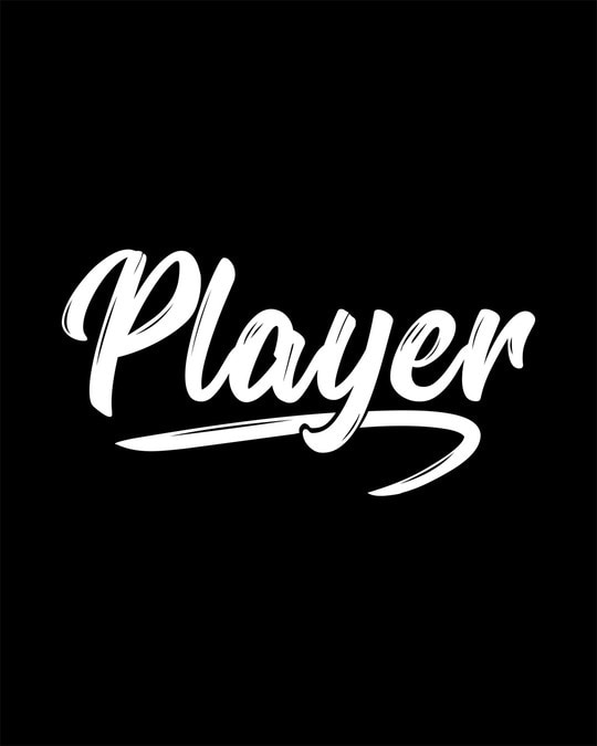 Shop Player Typography Round Neck 3/4th Sleeve T-Shirt