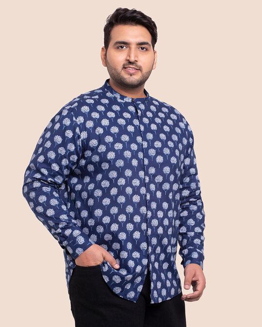 Shop Men's Printed Full Sleeves Plus Shirt-Design