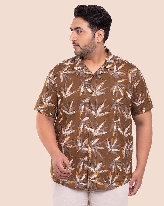 Shop Men's Printed Half Sleeves Plus Shirt-Back