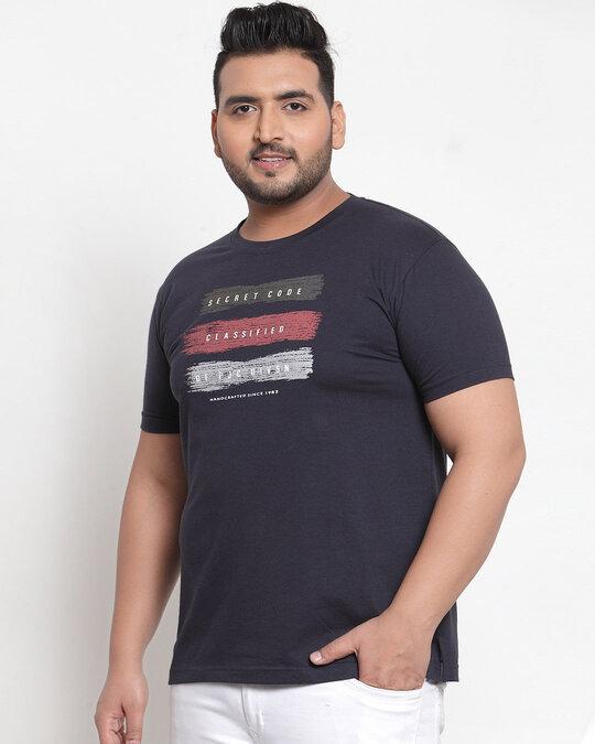 Shop PlusS Men T Shirt Half Sleeves-Back