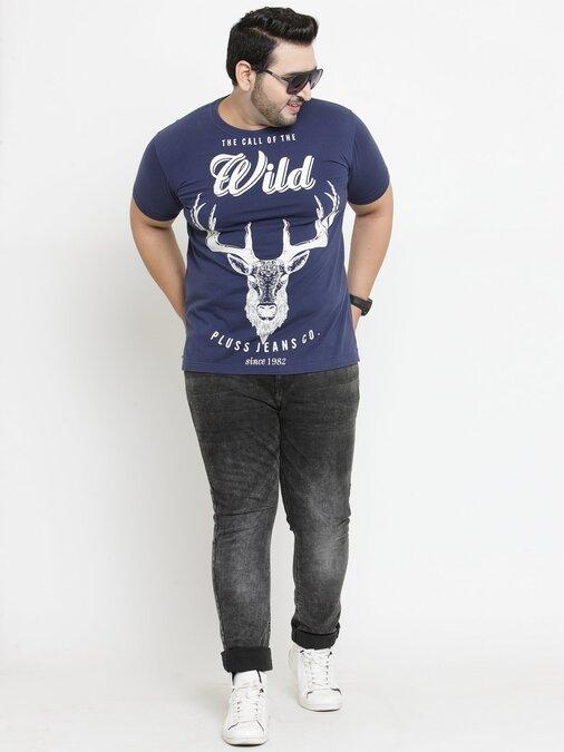 Shop PlusS Men T Shirt Half Sleeves-Design