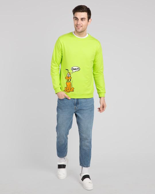 Shop Pluto Snack Fleece Sweater (DL) Neon Green-Design