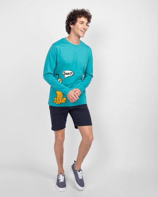 Shop Pluto Snack Full Sleeve T-Shirt (DL) Tropical Blue-Full