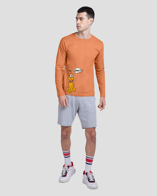 Shop Pluto Snack Full Sleeve T-Shirt (DL) Vintage Orange-Design
