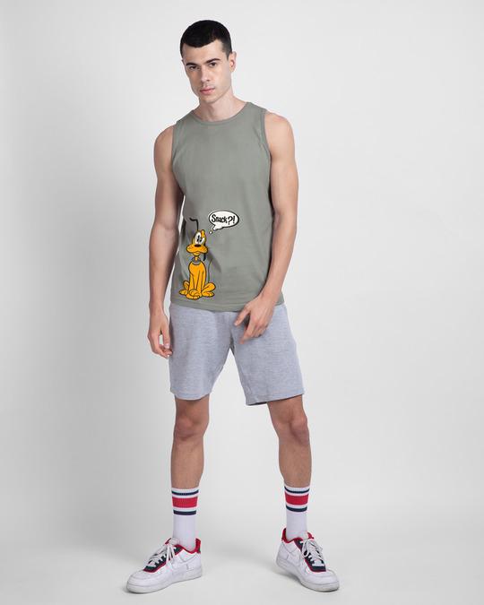 Shop Pluto Snack Round Neck Vest (DL) Meteor Grey-Design
