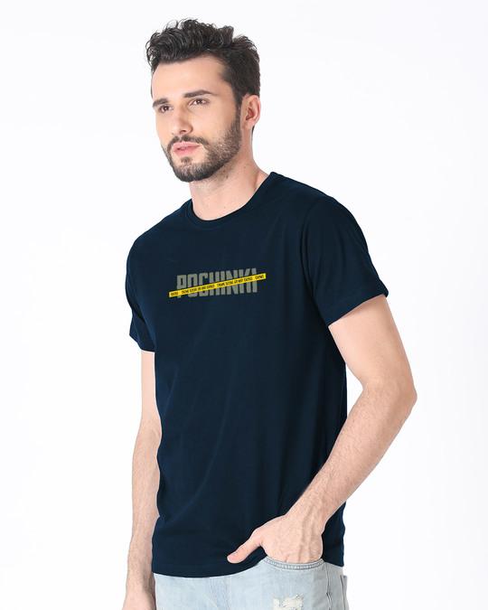 Shop Pochinki Do Not Cross Half Sleeve T-Shirt-Full