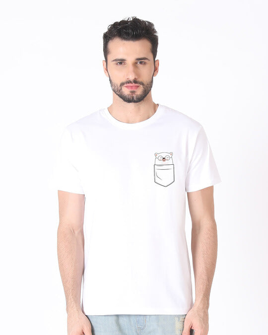 Shop Pocket Bear Half Sleeve T-Shirt-Back