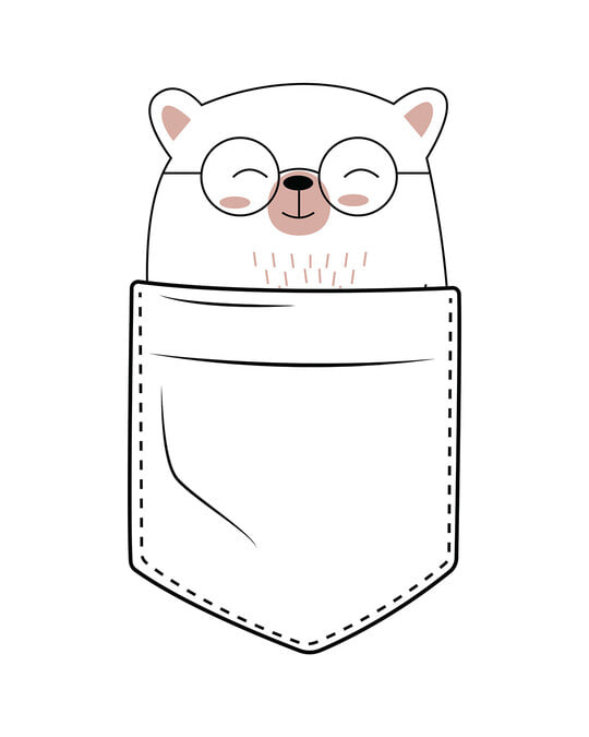 Shop Pocket Bear Half Sleeve T-Shirt