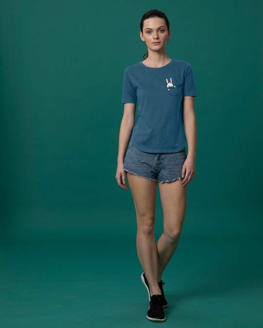 Shop Pocket Bunny Basic Round Hem T-Shirt