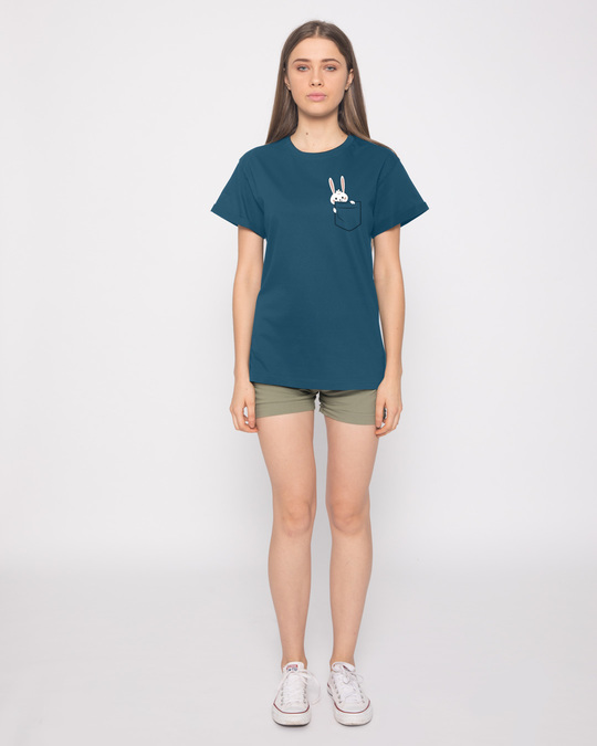 Shop Pocket Bunny Boyfriend T-Shirt