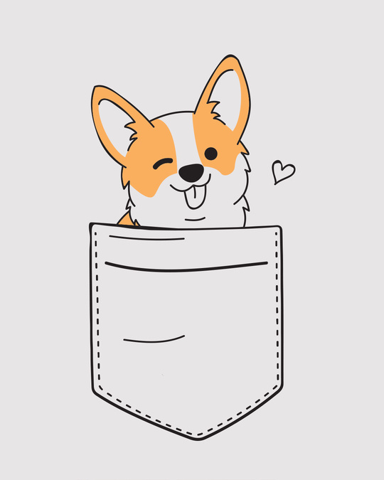 Shop Pocket Corgi Boyfriend T-Shirt