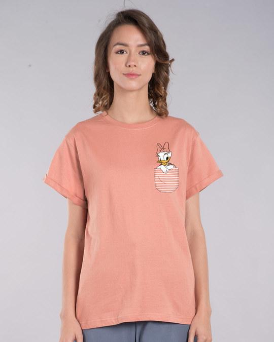 Shop Pocket Daisy Boyfriend T-Shirt (DL)-Back