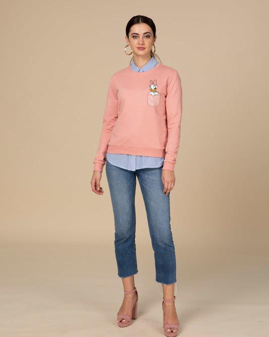 Shop Pocket Daisy Fleece Light Sweatshirt (DL)-Full