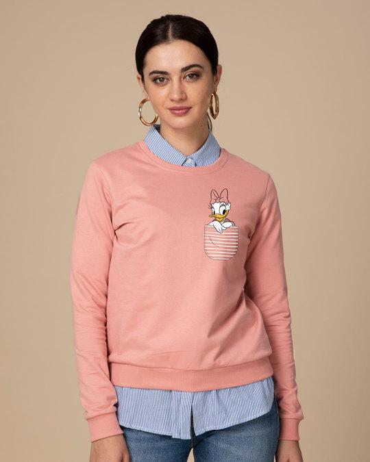 Shop Pocket Daisy Fleece Light Sweatshirt (DL)-Back