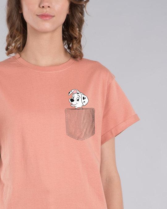 Shop Pocket Dalmatian Boyfriend T-Shirt (DL)-Front