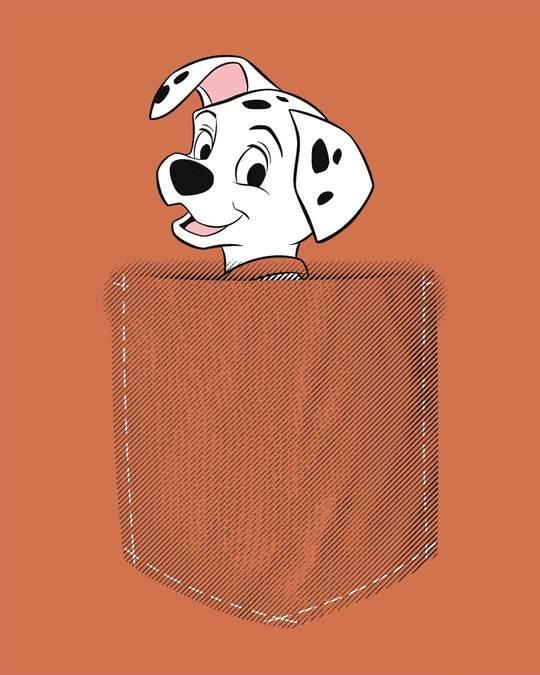 Shop Pocket Dalmatian Scoop Neck Full Sleeve T-Shirt (DL)-Full