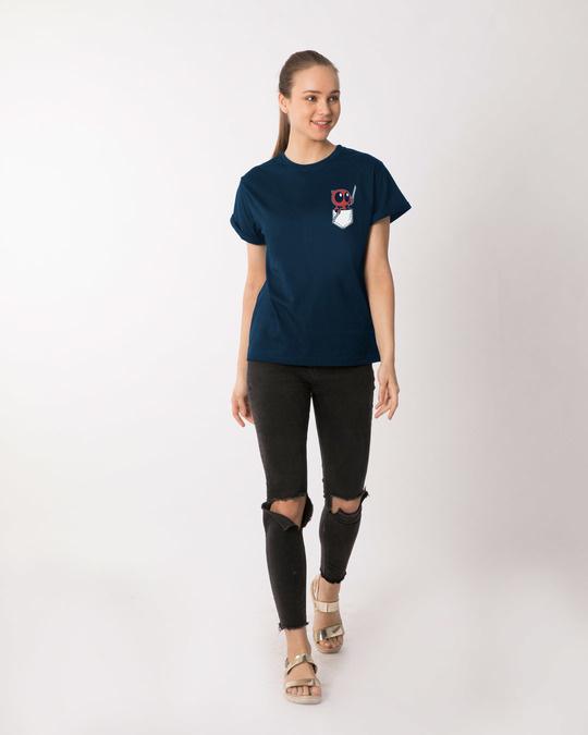 Shop Pocket Deadpool Boyfriend T-Shirt (DPL)