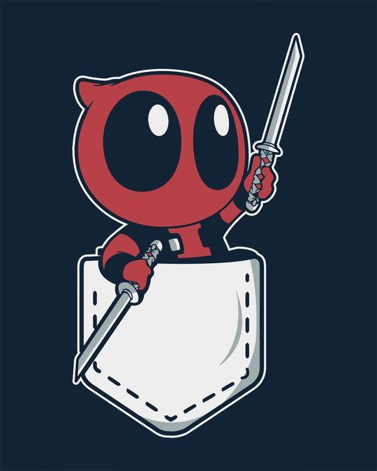 Shop Pocket Deadpool Full Sleeve T-Shirt (DPL)