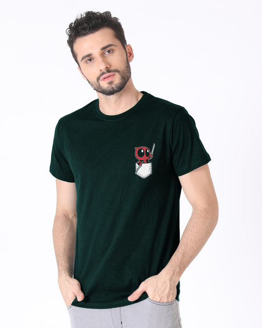 Shop Pocket Deadpool Half Sleeve T-Shirt (DPL)-Design