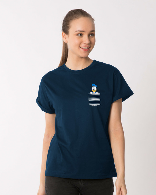 Shop Pocket Donald Boyfriend T-Shirt-Back