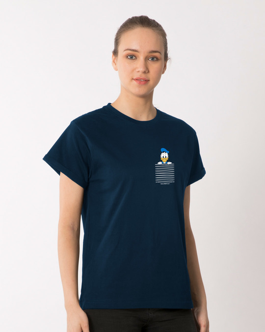 Shop Pocket Donald Boyfriend T-Shirt-Full