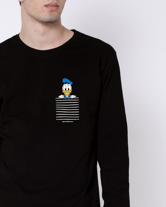 Shop Pocket Donald Full Sleeve T-Shirt-Front