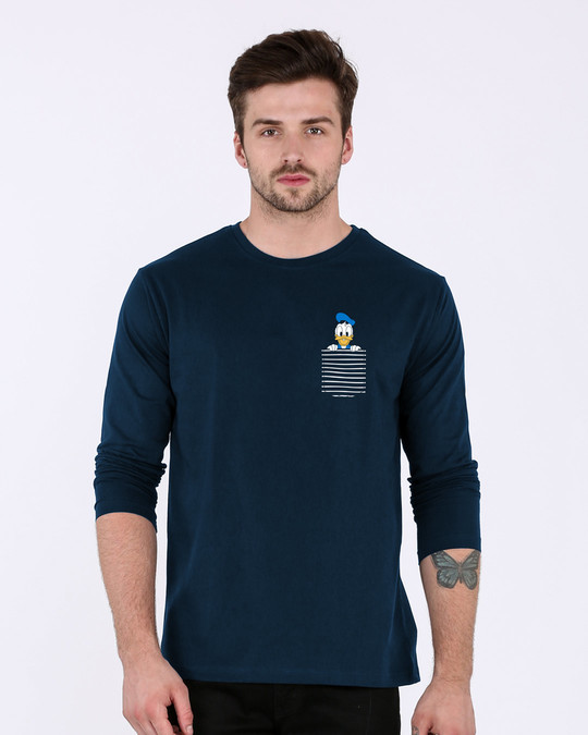 Shop Pocket Donald Full Sleeve T-Shirt-Back