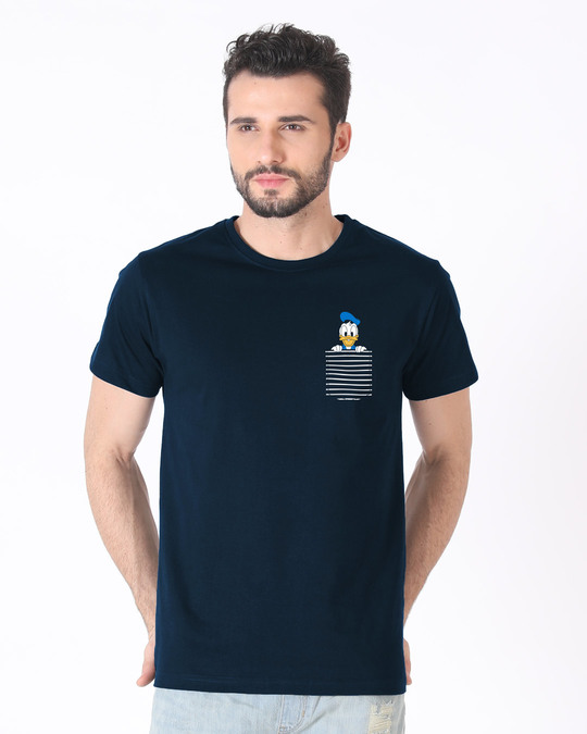 Shop Pocket Donald Half Sleeve T-Shirt-Back