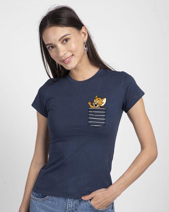 Shop Pocket Jerry Half Sleeve T-Shirt (TJL)-Back